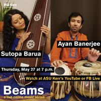 vocalist Sutopa Barua, Ayan Banerjee playing tabla
