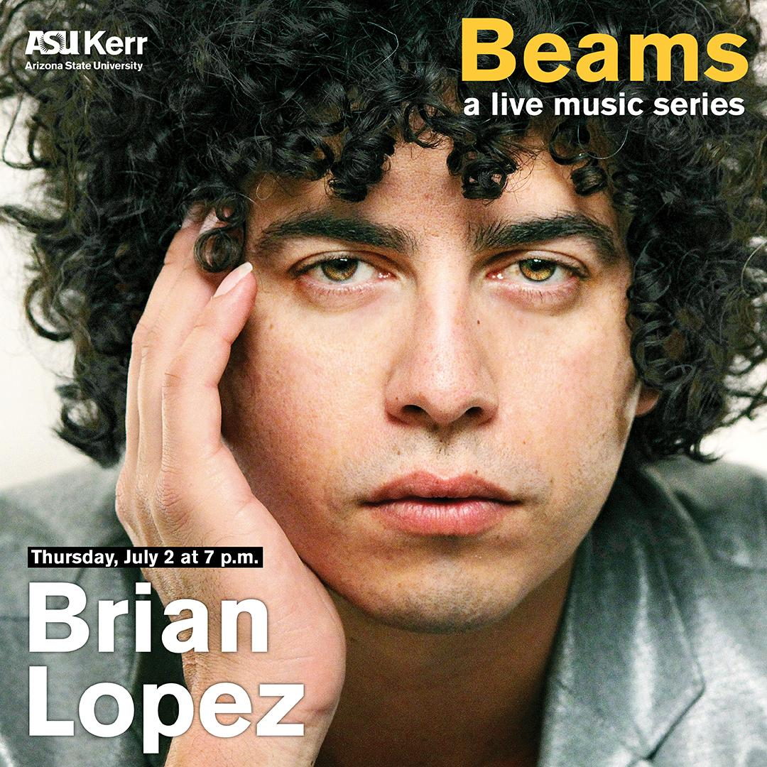 Brian Lopez gives a steely gaze as he rests his chin in his hand