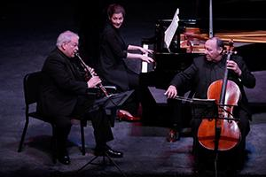 Polonsky-Shifrin-Wiley Trio performs onstage