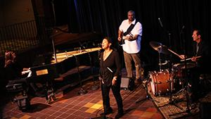 Nicole Pesce on piano, Renee Patrick on vocals, Greg Warner on drums and Mel Brown on bass performing live