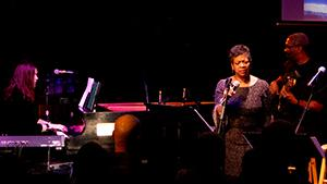 Nicole Pesce on piano, Renee Patrick on Vocals, Mel Brown on bass performing live at ASU Kerr